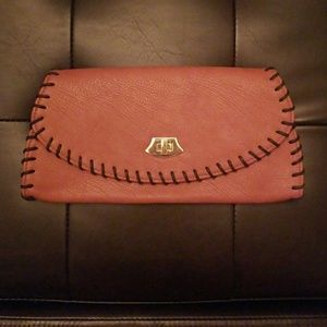 Brown Clutch w/ Stitching